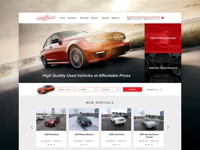 Auto Website Interface #2 website design web ui layout interface dealer clean cars auto