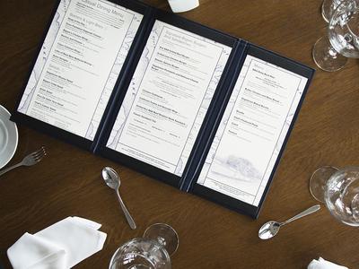 Dining Menu – Bigwin Island muskoka culinary foodie food dining restaurant menu graphic design print