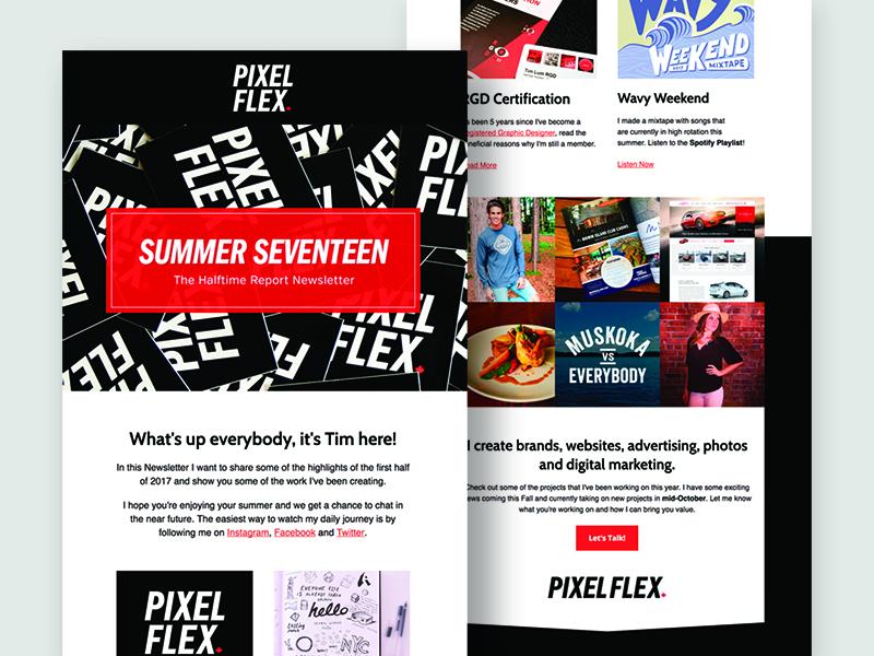 Summer Seventeen Newsletter summer pixelflex campaignmonitor email newsletter