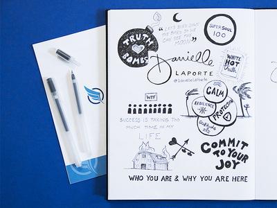 Archangel Summit 2017 – Sketchnotes ink pen doodles drawing typography illustration sketches sketchnotes