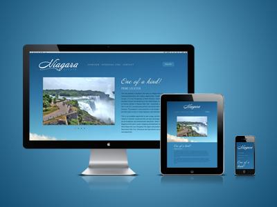 Niagara Estate (responsive*) responsive blue niagara website web design sky