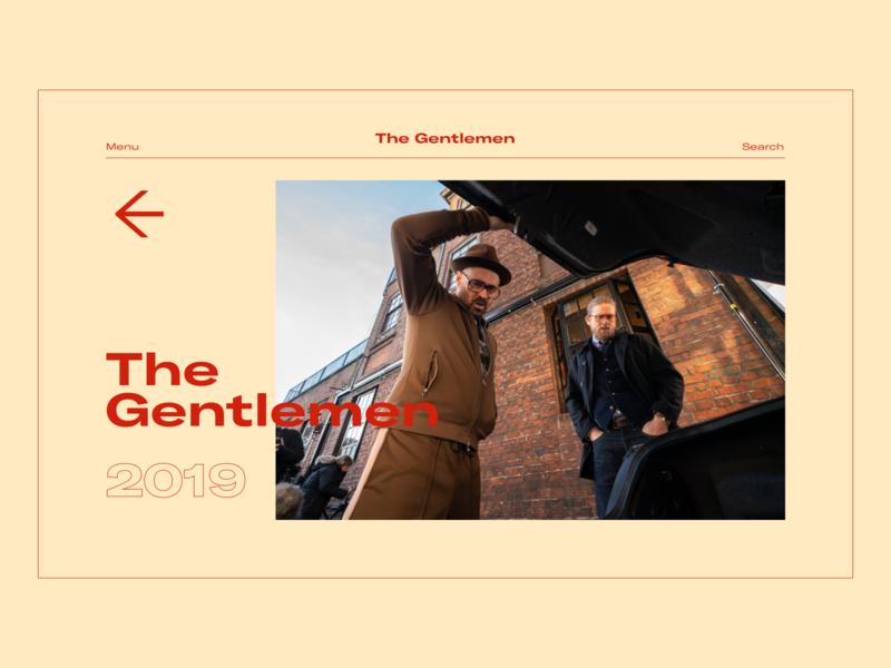Guy Ritchie Interaction Website minimal design ui web typography