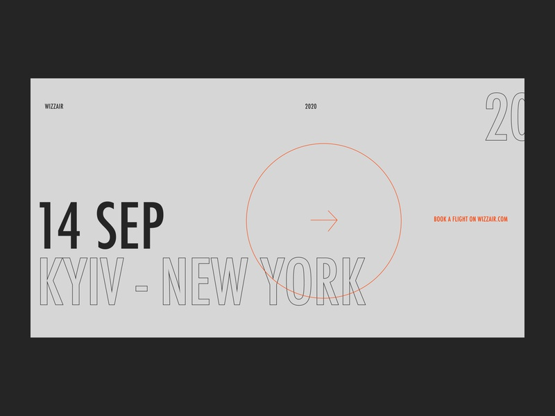Banner / New Destination Wizzair website design web ui typography