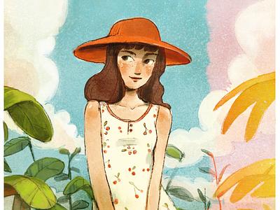 Sunny Day summer cute illustration dtiys