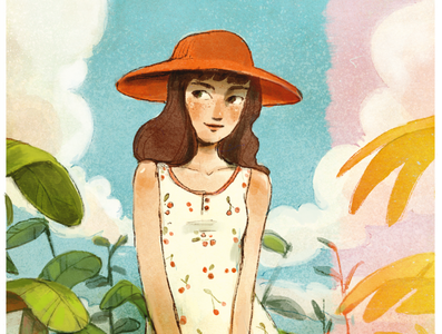 Sunny Day summer cute illustration dtiys