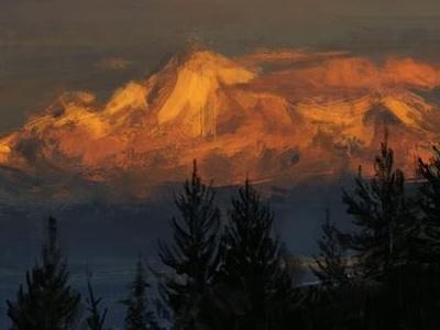 Mt. Baker digital painting mt. baker mountain