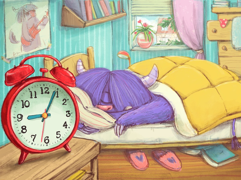 Sleeping Beauty children illustration drawing painting digital character cute illustration character design sleeping
