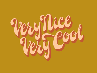 Very Nice, Very Cool Hand Lettering Illustration lettering design lettering art word art quote lettering digital art procreate handlettering typography type design hand drawn illustration design