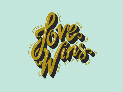 Love Wins Hand Lettering Illustration script lettering green blue love wins love quote word art lettering art lettering digital art procreate handlettering typography type design illustration hand drawn design