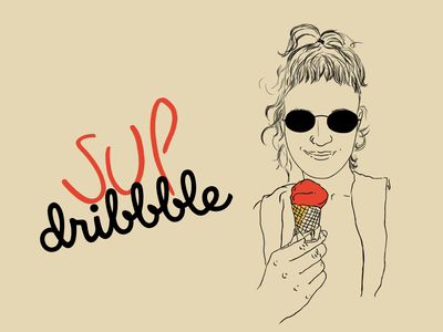 oh, hello! icecream motivation debuts debut design illustration