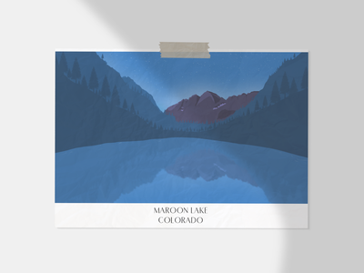 Another place I'd like to know stars drawing lakes colorado unitedstates 2d design motivation illustration