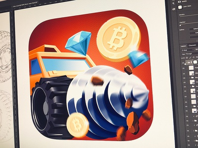 Bit Rover android northwood bitcoin wheel rover drill diamond game mobile icon ios