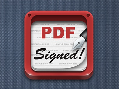 Signed PDF icon