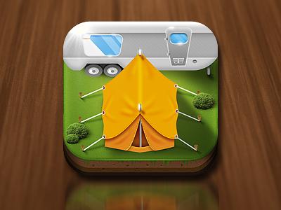 Camping App icon ios icon ios icon mobile icon app
