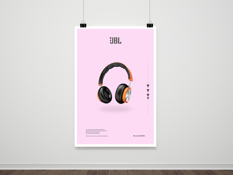 Headphone Poster poster design socialmedia smm headphone graphicdesign posters poster