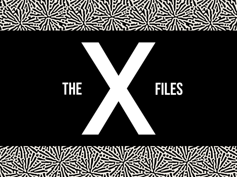 The X Files tv mulderscully thexx pattern design detective alien conspiracy xfiles tribute danascully foxmulder tv show thexfiles illustrator graphic