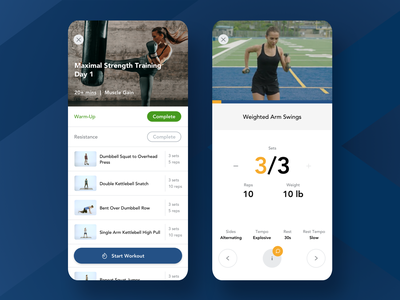 NASM Edge • Train with Confidence training android athlete design ux ui ios exercise development app