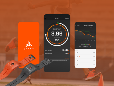 JAWKU • Built For Speed android ios mobile exercise training athlete development design app ux ui