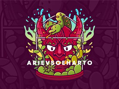 Nature Demon distro clothing apparel tees tshirt merchandise vector illustration