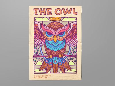 Owl Illustration doodle animal vector design illustration owl poster