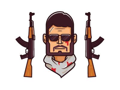 Counter Strike : Global Offensive icon weapon gun tshirt portrait character terrorist csgo