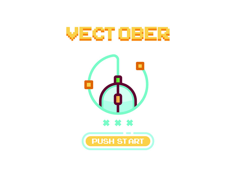 Vectober color. linear stroke line illustrator illustration icon vectober