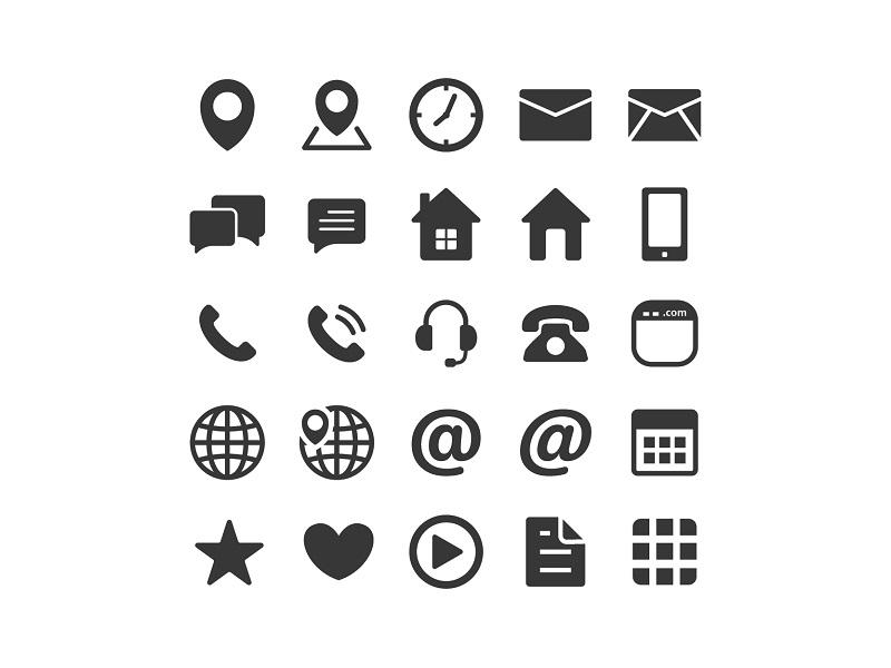 Contact Icons By Ariev Soeharto Dribbble