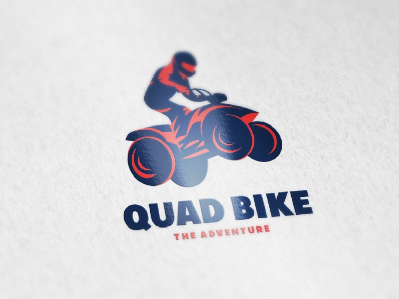 Quad Bike sport extreme creativemarket template logo quad bike bike
