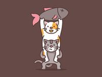 Cat Teamwork