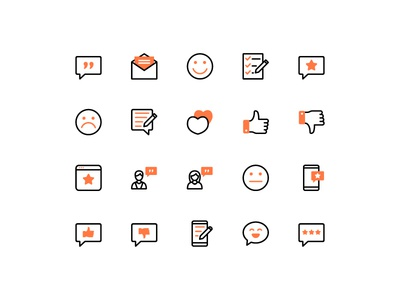 Review and Feedback Icons icon set seller feedback review icon