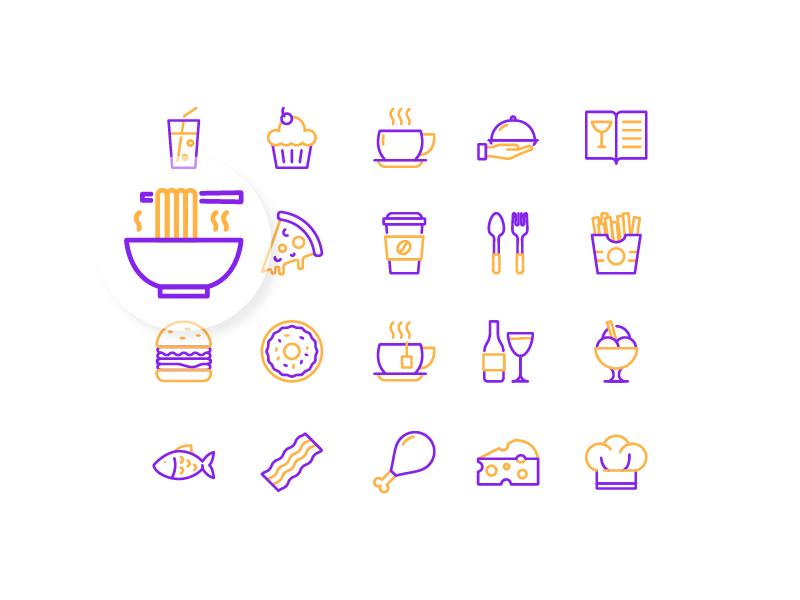 Restaurant Icons iconography icon set icon design vector duotone restaurant icon