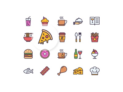 Restaurant Icons color food iconfinder iconography icon set icon restaurant