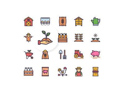 Farming Icons farm icon design icon set vector illustration icon