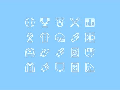 Baseball Icons interface ui outline iconography icon icon set