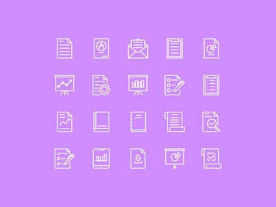 Report Icons interface icon icon design iconography icon set report