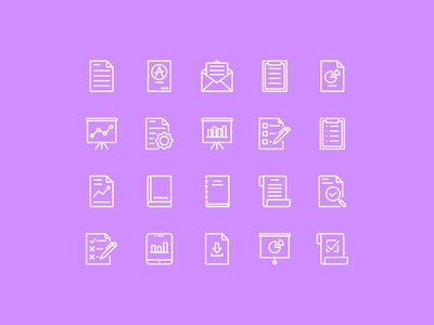 Report Icons interface icon icon design iconography icon set report