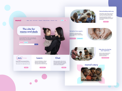 Momzi's e-health and parenting site digital health ehealth marketing campaign mothersday webdesign parenting