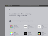 Unusual - A curated app directory design webdeveloping webdesigns webdesign augmentedreality appstore ios app ios directory unusual