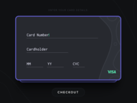Credit Card Checkout - Day 002 #DailyUI