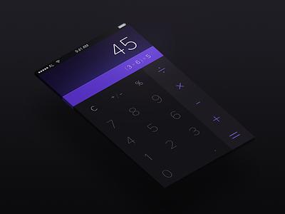 Calculator  - Day 004 #DailyUI mobile ux ui calc ios interface dark calculator dailyui
