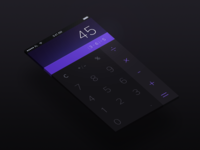 Calculator  - Day 004 #DailyUI