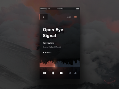 Music Player - Day 009 #dailyUi dailyui electronic iphone ios mobile ux ui dark sound player music