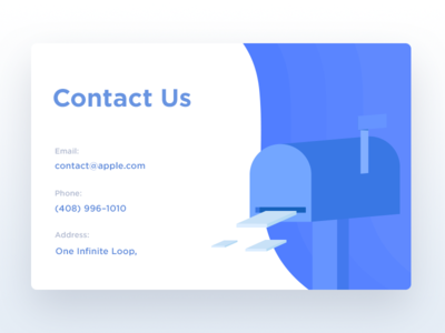 Contact Us - Day 028 dailyui contact us isometric geometric illustration contact mail mailbox dailyui