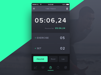 Workout Tracker - Day 041 #dailyui gym weightlifting time exercise stopwatch timer workout data tracker fitness dailyui