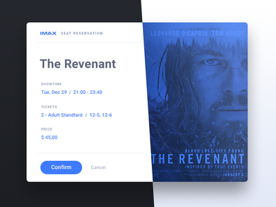 Confirm Reservation - Day 054 #dailyui