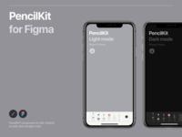 PencilKit® for Figma iphone ipad ui kit design system dark mode ui  ux app apple human interface ipados assets freebie figma pencilkit
