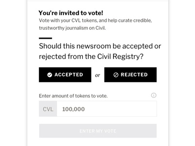 Voting civil governance news tcr blockchain journalism