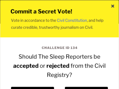 Commit a Secret Vote! microinteractions dapp news design ui tcr governance blockchain civil