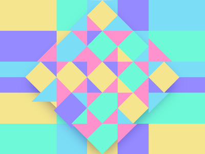 Woven Easter basket-esque - getting geometric take 2 easter pastels woven squares triangles geometric