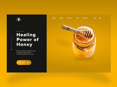 Power of Honey Web UI Design uiuxdesigner designer uiuxdesign uidesign ux uiux ui wireframe mockup creative adobe xd uxdesign inspiration illustration graphic design design art app design web design app